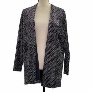 Notations Embellished Sequin Cardigan Sweater M